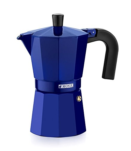 Monix M281706 M281706-Cafetera Italiana, 6 Tazas, Color Fresa, Aluminio, 10 cm