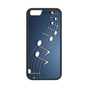 musical notes background iPhone 6 4.7 Inch Cell Phone Case Black Present pp001-9536015