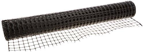 Resinet Barrier Fence SLM404850-BLK Square Mesh Barrier Fence, 140 lb. Tensile Strength, 4' x 50', Black (Barrier Mesh Fence)