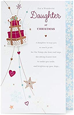 Daughter Christmas Card Lovely Christmas Card For Daughter Featuring Lovely Verse Sentiment Amazon Co Uk Office Products