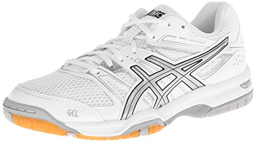 ASICS Women's Gel Rocket 7 Volley Ball Shoe,White/Fuchsia/Magenta,9 M US