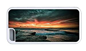 Hipster amazing for iphone 6 4.7 cases beach sundown scenery TPU White for Apple for iphone 6 4.7
