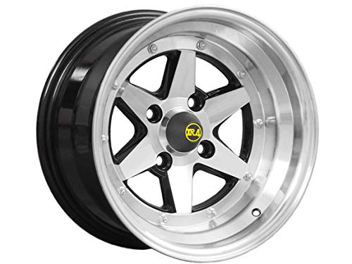Long Champ XR-4-14 15x8.0 4H-114.3 Black Polish Per Wheel [15 inch / 8.0j / inset -14/4 hole/PCD 114.3]