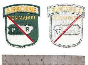 (#M03 CO A 65TH Infantry Commando Patch by HighQ Store)