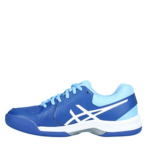 Chaussures dedicate Indoor Blue Femme white Gel Monaco 5 Asics TdqCgnCw