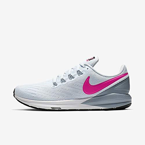 Nike Women's Air Zoom Structure 22 Running Shoe Half Blue/Obsidian Mist/Black/Hyper Pink 10 M US