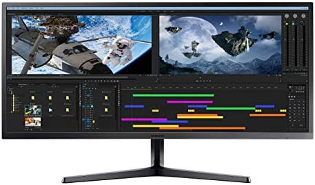 "Samsung 34"" Class Ultrawide Monitor with 21:9 Wide Screen, S34J552WQNXZA (Renewed)"