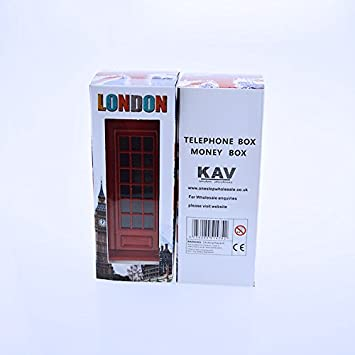 KAV Tirelire en Forme de Cabine t/él/éphonique Motif Union Jack sur Bo/îte//Speicher//Memoria//Londres
