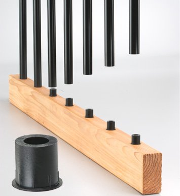 Baluster Connector W/Screw Blk