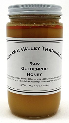 Raw Honey - Goldenrod, Product of USA - Unfiltered - Unpasteurized - Unprocessed - 1 LB (16 oz - 454 - Unpasteurized Liquid Honey