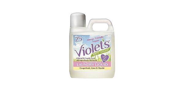 Detergente líquido natural, de la marca Violets, pomelo, lima y mirto, 1 litro: Amazon.es: Hogar