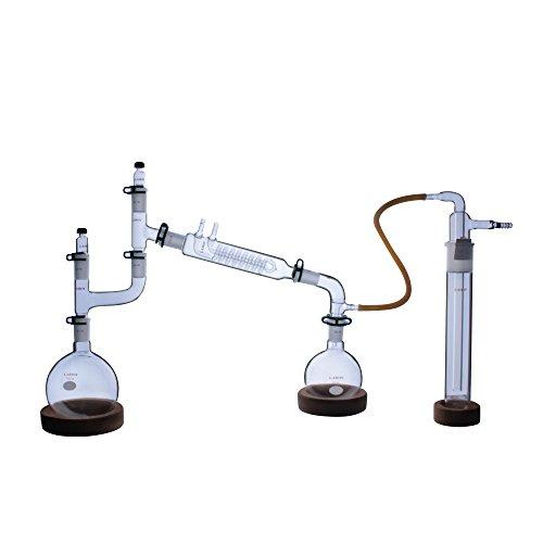 Laboy HMK10 Glass organic Chemistry Laboratory Glassware Kit (Pack of 19)