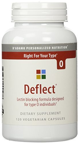 D'Adamo Personalized Nutrition - Deflect Lectin Blocker (Type O) 120vc by The Blood Type Diet by The Blood Type Diet