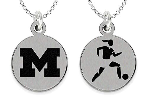 College Jewelry University of Michigan Wolverines Women's Soccer Charm Necklace by College Jewelry