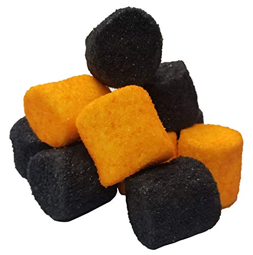 Halloween Sugared Marshmallows Black & Orange Spooky Candy Scary Colors 1 Pound