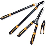 Fiskars 395439-1001 3 Piece Tree and Shrub Lopper-Shears-Pruner Set