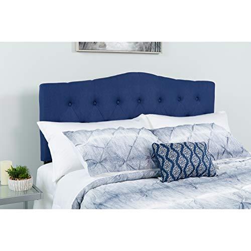 Flash Furniture Cambridge Tufted Upholstered King Size Headboard in Navy Fabric (Navy Headboard Fabric)