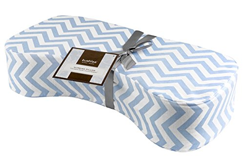 Nursing Pillow  Blue Chevron (Best Nursing Pillow Canada)