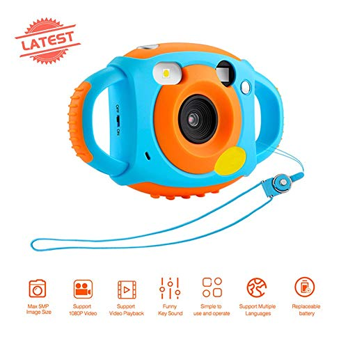 Kids Digital Camera Screen Children's Camera Hd Digital Camera with Silicone Soft Cover for Boys Gifts Hd Screen Video Camera for Kids Shockproof Children Selfie Toy Mini