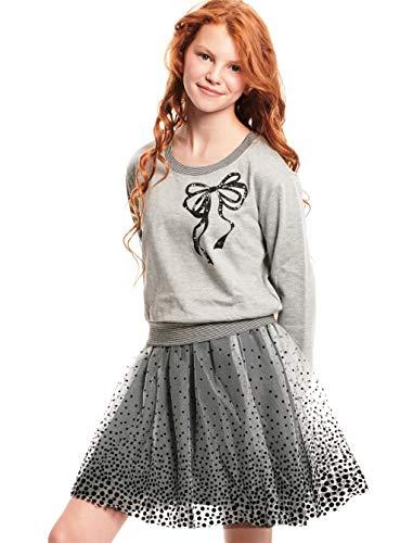Truly Me, Long Sleeve Sweater Dress, 2T-6X, 7-16 (14, Grey -