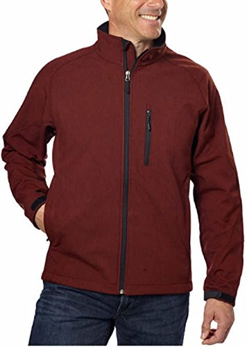 n's Softshell 3-Layer Water Resistance Jacket Sequoia Red Heather XXL (Athletic Jacket)
