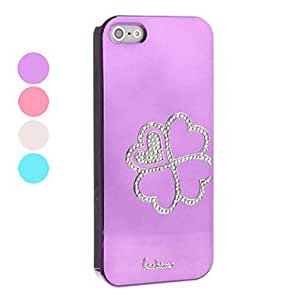 Clover Pattern Hard Case for iPhone 5/5S (Assorted Colors) , Purple