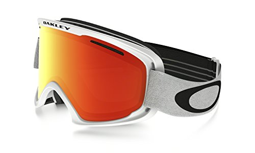 Oakley O Frame XM 2.0 Snow Goggles Matte White with Fire Iridium - Ski Oakley Iridium Fire Goggles