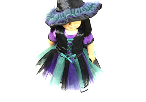 Arianna Coven Witch 3pcs Doll Costume Fits 18 inch American Girl Doll  18 inch Doll clothes   Boutique Quality She's Worth it!   Designed In USA Fit 18 Inch Dolls by Arianna (Image #1)