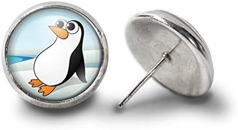 [해외]Sunshine Penguin Earrings,Penguin Earring,Penguin Jewelry Gift for Her ,Dome Glass Ornaments / Sunshine Penguin Earrings,Penguin Earring,Penguin Jewelry Gift for Her ,Dome Glass Ornaments
