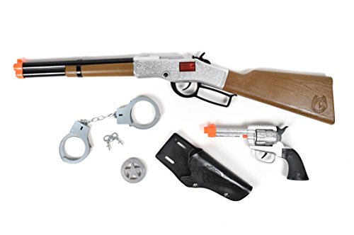 ment Maxx Action Deluxe Western Toy Gun Play Set (Ring Caps) (Toy Cap Guns Kids Costumes)