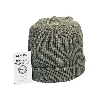 5779 GENUINE ARMY O.D. WOOL WATCH CAP (Army Cap Knit Black)