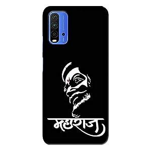 NDCOM® Chhatrapati Shivaji Maharaj Printed Hard Mobile Back Cover Phone Case for Redmi 9 Power