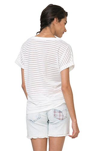 Mujer Camisetas Desigual Desigual Blanco Desigual Camisetas Blanco Mujer Mujer Camisetas xtUPtq0p