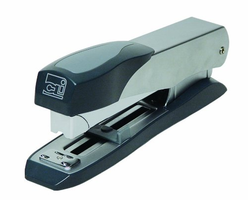 Charles Leonard Executive Metal Stapler, Rotates to Open, High Capacity Up To 50 Sheets, Uses Standard or 5/16 Inch Staples, Gray  (82415)