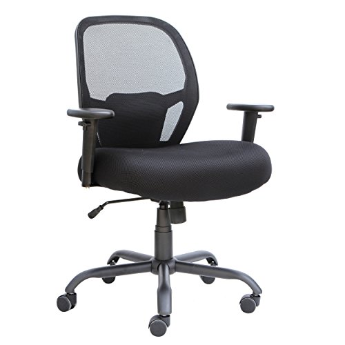 Alera Merix450 Series Mesh Big/Tall Mid-Back Swivel/Tilt Chair, Black by Alera