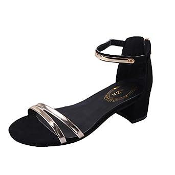 Womens Sandals For Summer Anshinto Summer Women High heels Sandals Open Toe Thick Heel Women Shoes