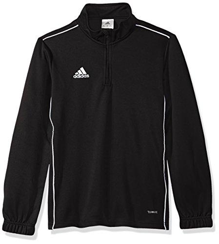 adidas Unisex Youth Soccer Core18 Training Top, Black/White, 2XS