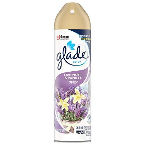 Glade Air Freshener, Room Spray, Lavender & Vanilla, 8 Oz, 12 Count