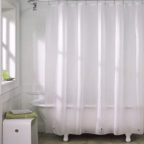 Eforcurtain Modern Bathroom Liner With Magnets Waterproof and Anti-Mildew Shower Curtain Liner Light Weight PEVA Semi-transparent, 72 By 78 (Magnet Weight)