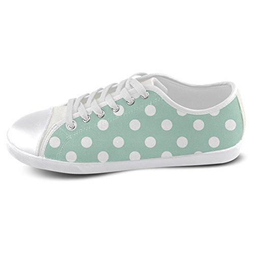 Artsadd Custom Aqua Polka Dots Canvas Shoes For Men (Model016) 1v9Mq2Z8zN