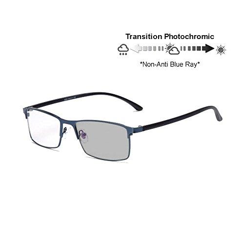 templos gafas Ray ninguna Armada lectura computadora de Blue Progresiva UV400 fotocromatico sol Transición flexible línea gafas Transición progresiva gradual de anti qwO1CZ