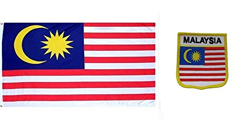 AES Wholesale Combo Set Malaysia Country 3x5 3'x5' Flag and 3