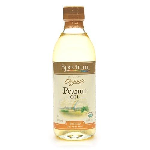 Spectrum Naturals All-purpose cooking Organic Refined Peanut Oil 16 oz (6 Pack)