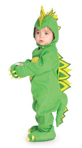 [Rubie's Costume EZ-On Romper Costume, Dragon / Dinosaur, Newborn] (Cute Halloween Costumes For Newborn Babies)
