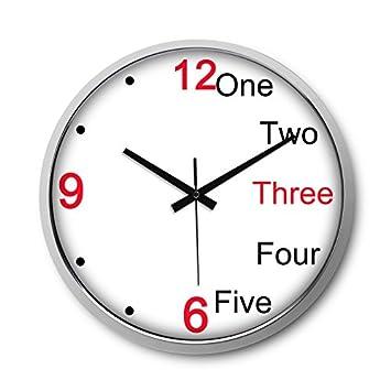 Amazonde Wanduhr 14 Cm Quarzuhr Mute Wecker Uhren Wohnzimmer