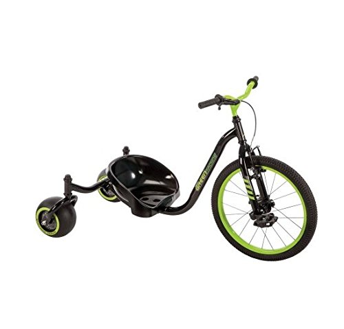 Huffy Green Machine, Durable Steel Evolution Trike in Gloss Black Drift Trike