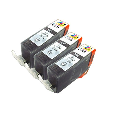3 Pack Compatible Replacement Inkjet Cartridges for PGI-225 Black For Use With PIXMA IP4820 IX6520 MG5120 MG5220 MG5320 MG6120 MG6220 MG8120 MG8120B MG8220 MX712 MX882 MX892 IP4920