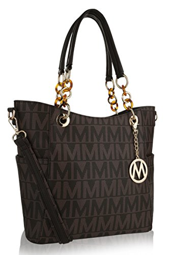 - MKF Crossbody Shoulder Handbag for Women Removable Shoulder Strap Vegan Leather Top-Handle Satchel-Tote Bag Chocolate