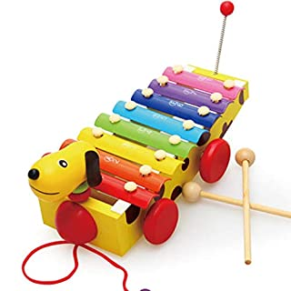 Tuuertge Xylophone for Toddlers Baby Musical Instruments Xylophone Wooden Xylophone Percussion Educational Music Toys Musical Pounding Toy (Color : Multi-Colored, Size : 32x10.3cm)