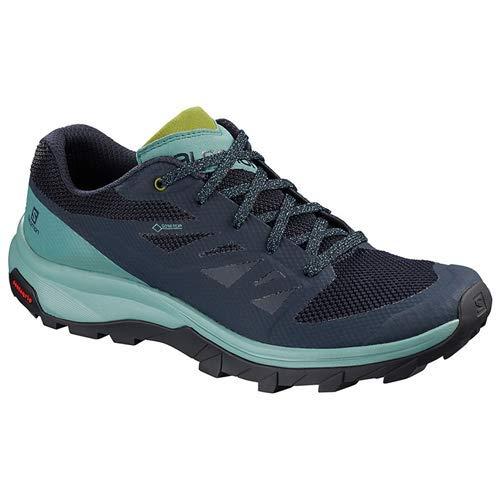 Salomon Outline GTX Hiking Shoes - Women's Trellis/Navy Blazer/Guacamole 7.5